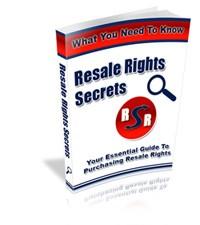 Resale Rights Secrets Mrr Ebook
