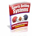 Sports Betting Systems Mrr Ebook