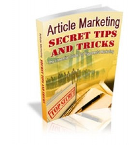 Article Marketing Secret Tips And Tricks Mrr Ebook