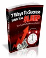 7 Ways To Success While You Sleep MRR Ebook