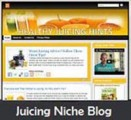 Healthy Juicing Niche Blog Personal Use Template