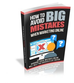 How To Avoid Big Mistakes When Marketing Online Resale Rights Ebook