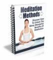 Meditation Methods Ecourse MRR Autoresponder Messages
