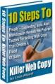 10 Steps To Killer Web Copy Resale Rights Ebook