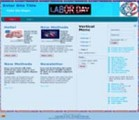 Labor Day Website Templates 3 PLR Template