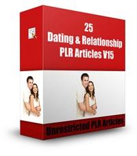 25 Dating  Relationship Plr Articles V15 PLR Article