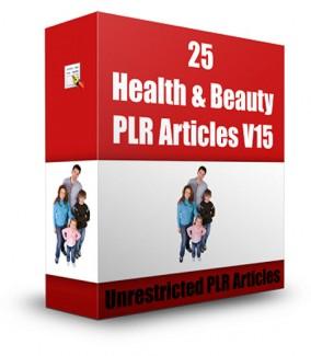 25 Health  Beauty Plr Articles V15 PLR Article