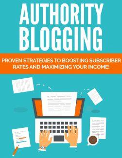 Authority Blogging PLR Ebook