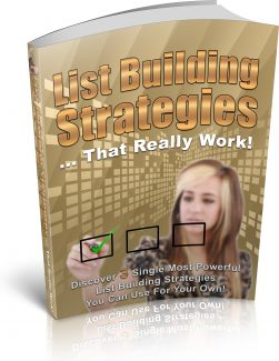List Building Strategies PLR Ebook