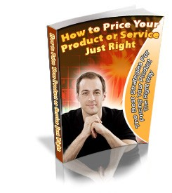How To Price Your Product Or Service Just Right PLR Ebook