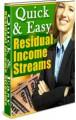 Quick  Easy Residual Income Streams Resale Rights Ebook