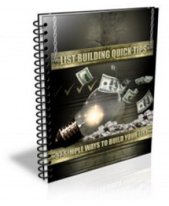 List Building Quick Tips Plr Ebook