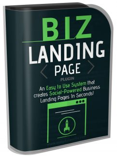 Biz Landing Page Plugin Resale Rights Software