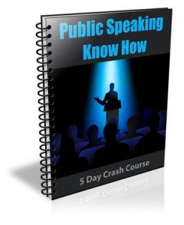 Public Speaking Know How PLR Autoresponder Messages