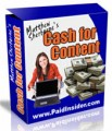Cash For Content MRR Ebook