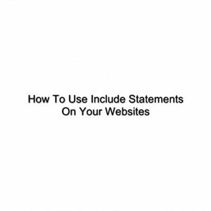 How To Use PHP Include Statements Plr Video