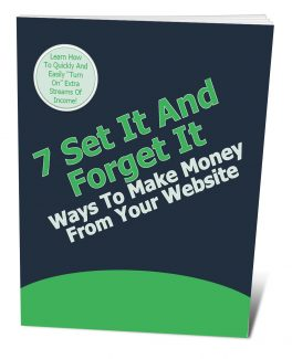 7 Set It And Forget It Ways To Make More Money With Your Website PLR Ebook