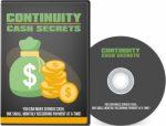 Continuity Cash Secrets PLR Video