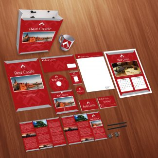 Red Castle Print Design Personal Use Template