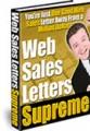 Web Sales Letters Supreme Resale Rights Ebook