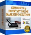 Answers To 15 Important Marketing Questions PLR Ebook