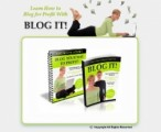 Blog It Plr Ebook With Resale Rights  Minisite Template