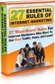 27 Essential Rules Of Internet Marketing Mrr Ebook