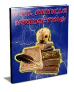 Evil Article Marketing Mrr Ebook With Video
