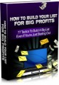 How To Build Your List For Big Profits Mrr Ebook