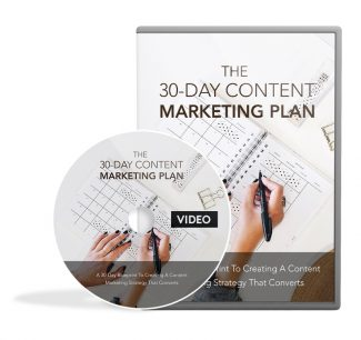 30 Day Content Marketing Plan – Video Upgrade MRR Video With Audio