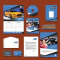 Carian Blue Print Design Personal Use Template