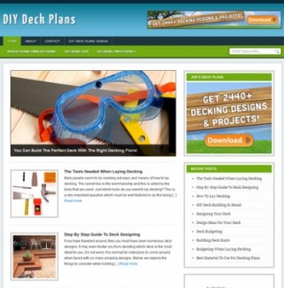 Diy Deck Plans Blog Personal Use Turnkey Websites With Video