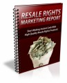 Resale Rights Marketing Report PLR Ebook