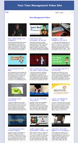 Time Management Video Site Builder MRR Software