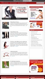 Varicose Veins Niche Blog Personal Use Template With Video