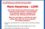 Mark Hendricks - Live Resale Rights Audio