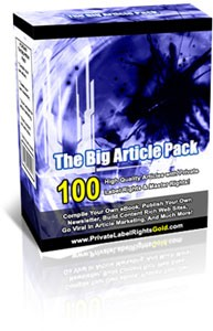 The Big Article Pack PLR Article