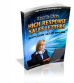How To Write High Response Sales Letters MRR Ebook