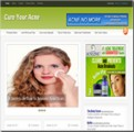 Cure Acne Blog Personal Use Template With Video