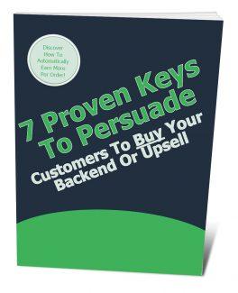 7 Proven Keys To Persuade Customers PLR Ebook