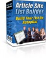 Article Site List Builder Give Away Rights Software