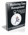 Mastering Time Management PLR Autoresponder Messages
