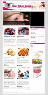 Vision Without Glasses Plr Niche Blog Personal Use Template