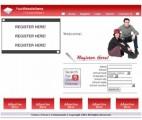 Classmates Website Crimson Personal Use Template