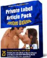 Private Label Article Pack : Online Dating Articles PLR ...