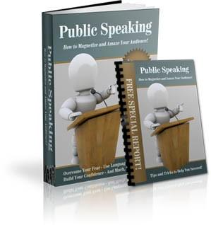 Public Speaking Niche Site PLR Ebook