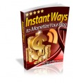 Instant Ways To Monetize Your Blog MRR Ebook