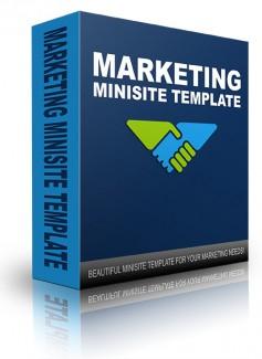 New Marketing Minisite Template 2014 PLR Template