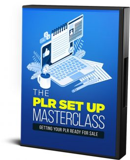The Plr Set Up Masterclass Resale Rights Video