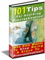 101 Tips For Avoiding Procrastination Resale Rights Ebook